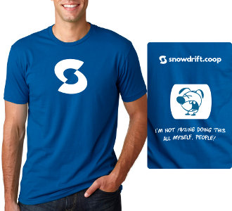 t-shirt: men's blue