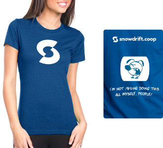 t-shirt: women's blue